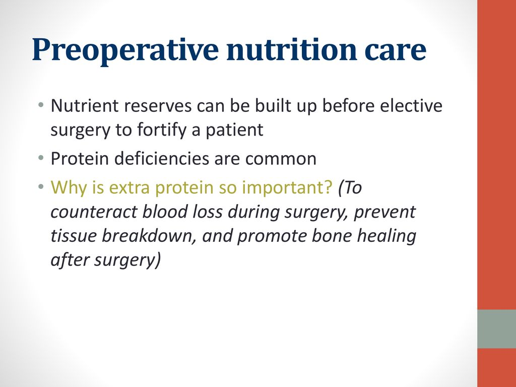 Preoperative nutrition care