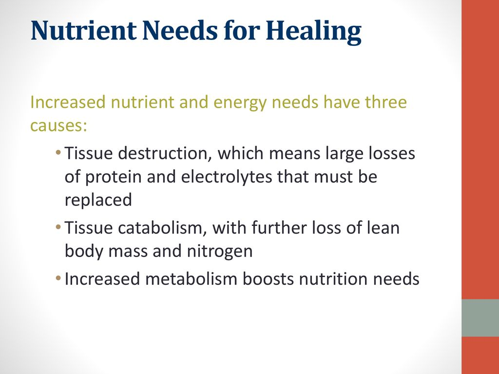 Nutrient Needs for Healing