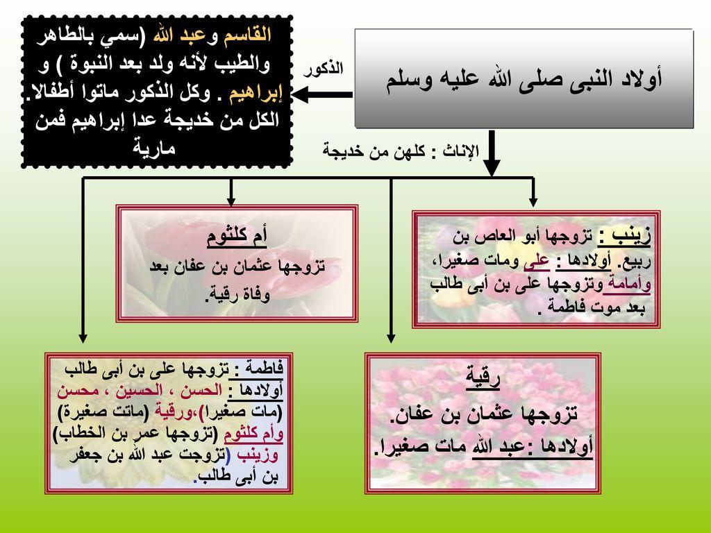 بنات النبى إعداد جنات عبد العزيز Ppt تنزيل