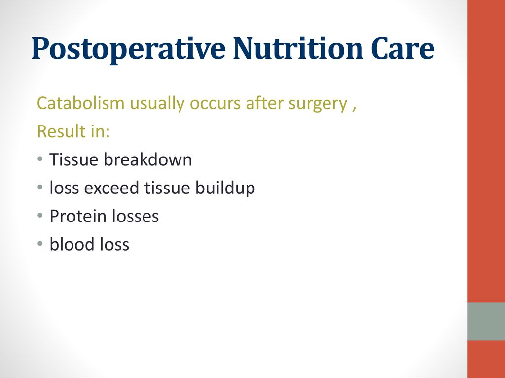 Postoperative Nutrition Care